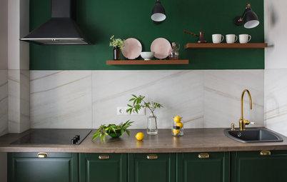 Фотоохота: Кухни с зелеными фасадами — 20 идей