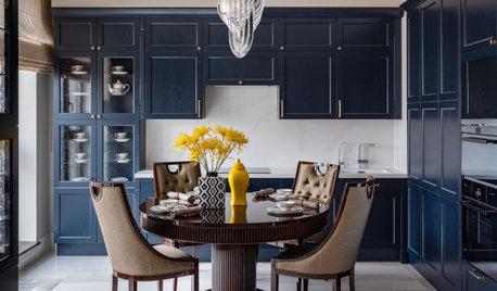 Houzz тур: Квартира с синей кухней