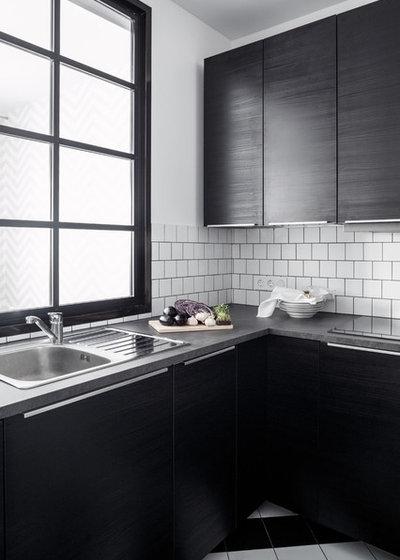 Contemporary Kitchen Жк Водный. Монохромная графика