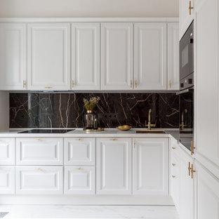Идея дизайна: кухня в стиле неоклассика (современная классика)