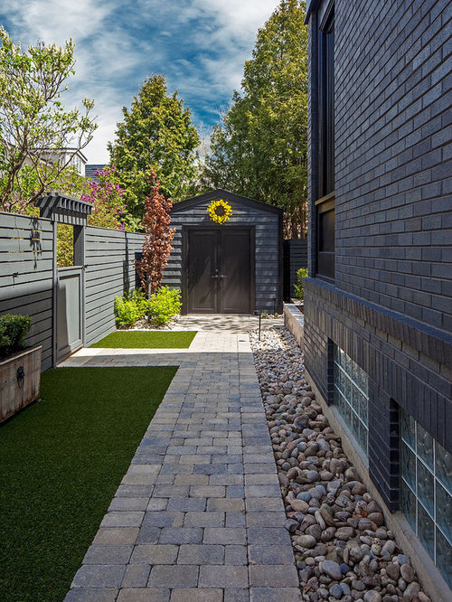 Side Yard Landscape Ideas, Designs, Remodels & Photos on Side Yard Path Ideas id=35910
