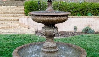 "#1239 Piazza Veneta Pond Fountain 78"" H x 70"" W"