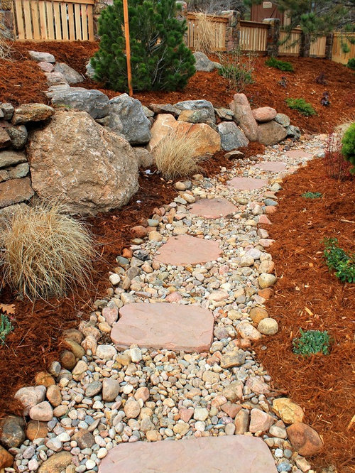 river rock walkway home design ideas pictures remodel