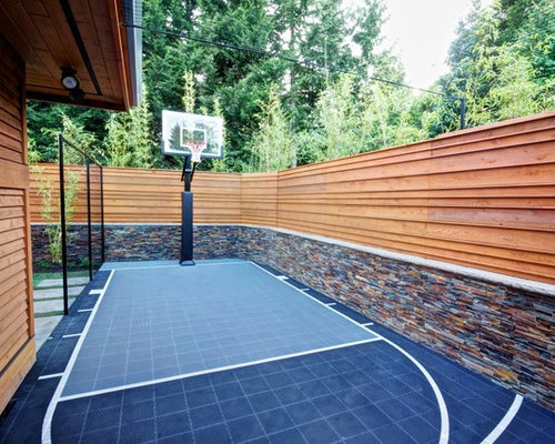 Basketball Court In Backyard Home Design Ideas Pictures Remodel And Decor