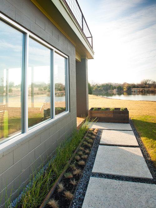 Salt finish concrete home design ideas pictures remodel for Home turf texas landscape design llc
