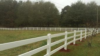 3 rail vinyl fence
