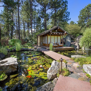This is an example of an asian water fountain landscape in Denver.