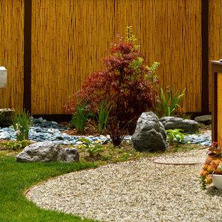 Inspiration pour un jardin asiatique avec un point d'eau.