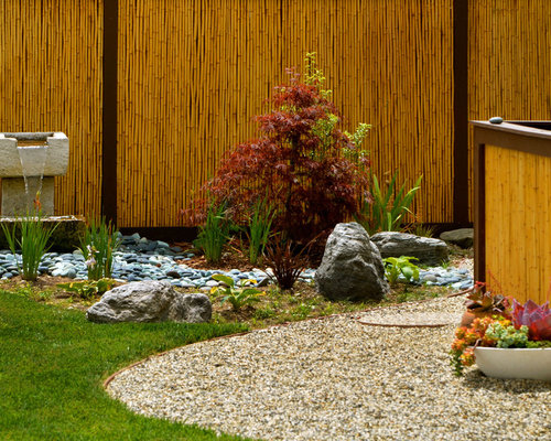 Design Ideas For An Asian Water Fountain Landscape In Los Angeles.