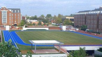 74k Natural Grass Rooftop Sports field atop a Parking Garage Chesapeake Energy