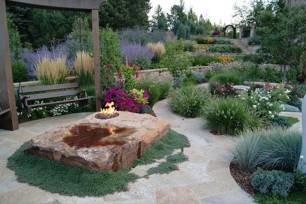 Mediterranean Landscape by Designscapes Colorado Inc.