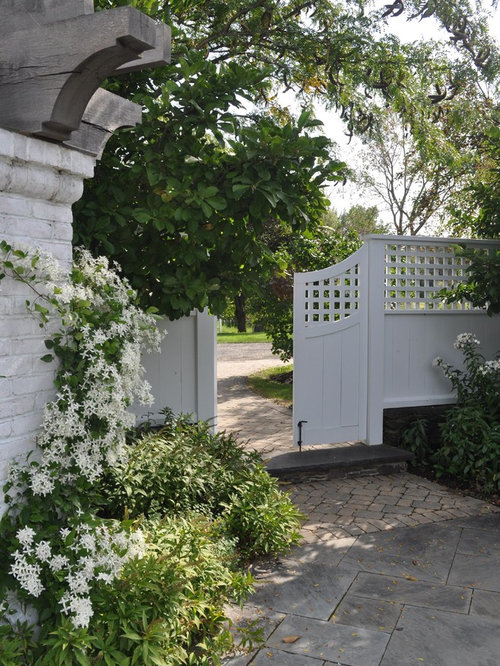Brick pillar fence home design ideas pictures remodel for Pretty fencing ideas