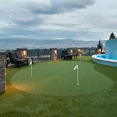 Modern Landscape by Okanagan Dream Builders Ltd.