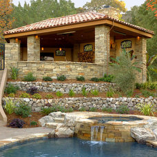 Mediterranean Landscape by B. Gordon Builders, Inc.