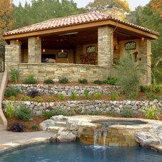 Mediterranean Landscape by B. Gordon Builders, Inc.