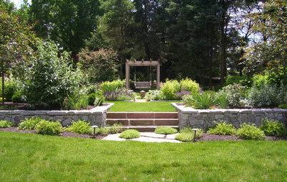 Comment am nager une terrasse sur un terrain en pente - Amenager un talus dans son jardin ...