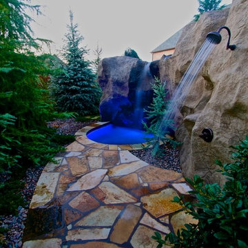 A Rustic Mine-Themed Pool & Grotto in Oklahoma