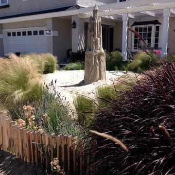 A Sand Sculptural Landscape in Huntington  Beach