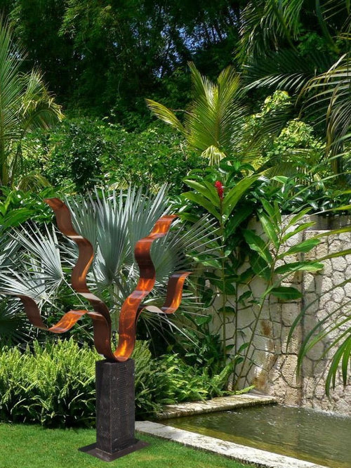 Contemporary Metal Outdoor Sculptures For Lawn And Garden
