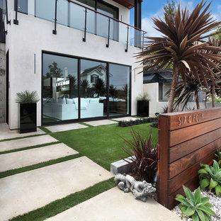 Modelo de jardín actual en patio delantero