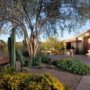 Mediterraner Vorgarten mit Wüstengarten in Phoenix
