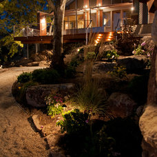 Traditional Landscape by After Dark Landscape Lighting