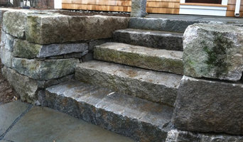 Aged Granite Wall and Steps