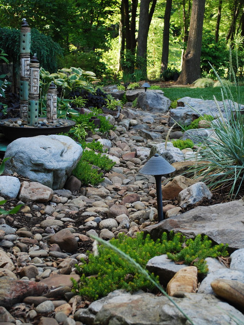 Dry Creek Bed French Drain Hidden | Houzz