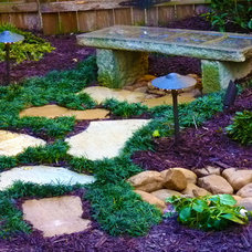 Transitional Landscape by Outdoor Makeover