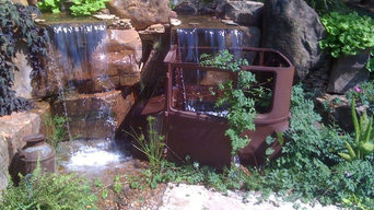 Antique Car Pondless Waterfall, Pondless Waterfalls in Edmond Oklahoma