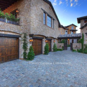 Antique Sandstone Cobblestone 6x6 - Villa Del Cielo