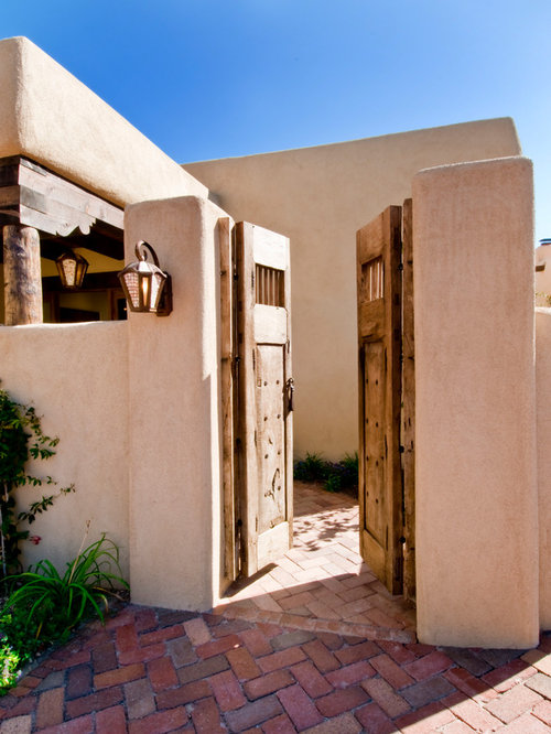 Adobe houses houzz for Adobe roof