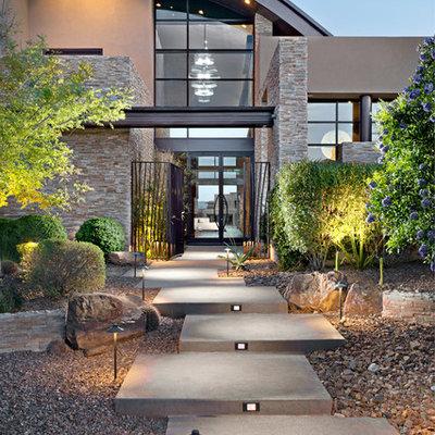 Inspiration for a contemporary garden path in Las Vegas.