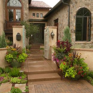 Photo of a mediterranean garden in Denver with a garden path.