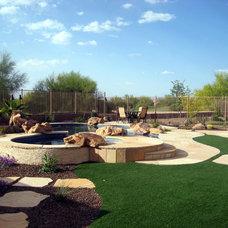 Traditional Landscape by Alexon Design Group