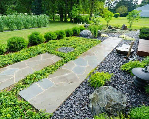 ideas to hide septic tank this is an example of a mid sized asian front yard stone garden path in - Garden Ideas To Hide Septic Tank