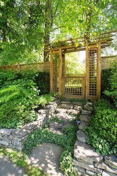 Need beautiful white wooden garden gate