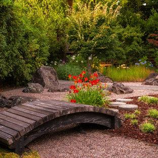 Design ideas for an asian backyard landscaping in San Francisco.