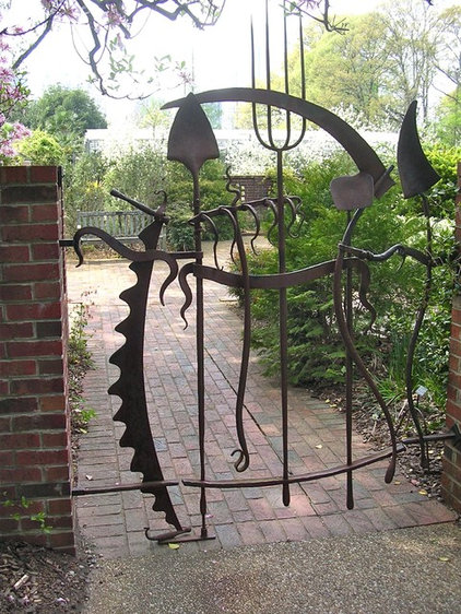 Garden Gates Design Pictures : Old tools come in handy as decor