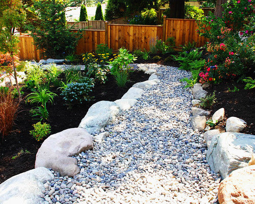River rock garden home design ideas pictures remodel and for River rock house plans