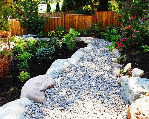 River rock garden houzz for River stone garden designs