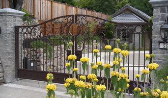 Automatic ornamental iron driveway gates