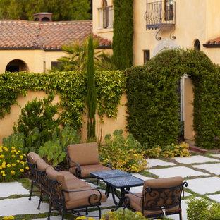 Inspiration for a mediterranean courtyard landscaping in San Luis Obispo.