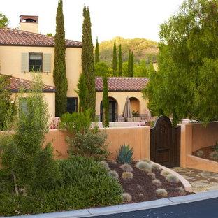 Photo of a mediterranean front yard landscaping in San Luis Obispo.