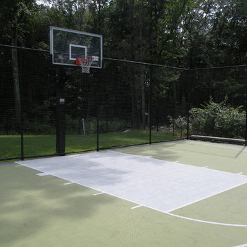 Backyard Basketball Courts in Andover
