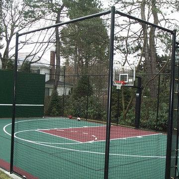 Backyard Basketball Courts in Chestnut Hill