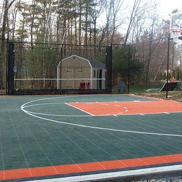 Backyard Basketball Courts in Merrimac