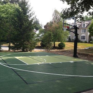 Backyard Basketball Courts in Milton