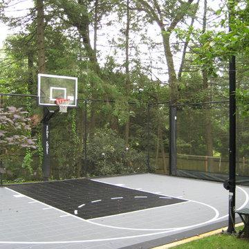 Backyard Basketball Courts in Newton