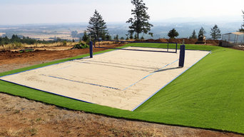 Backyard Beach Volleyball Court